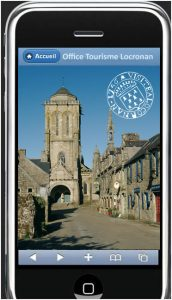 www.locronan.mobi, le site mobile de l'office de tourisme de Locronan