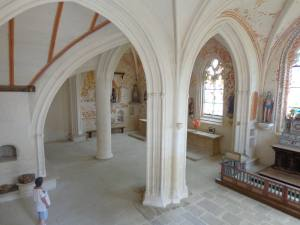 Intérieur de la chapelle Notre Dame du Quilinen de Landrévarzec